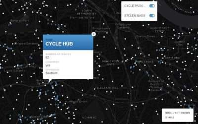 Cycle parking map – London