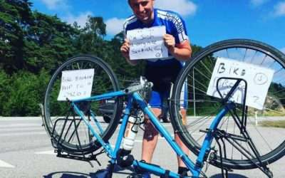 Round-the-world cyclist, Josh Quigley, talks about his stolen bike