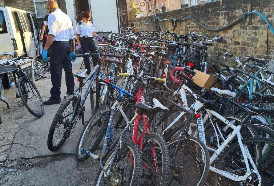 Met Police 118 suspected stolen bikes in Hackney